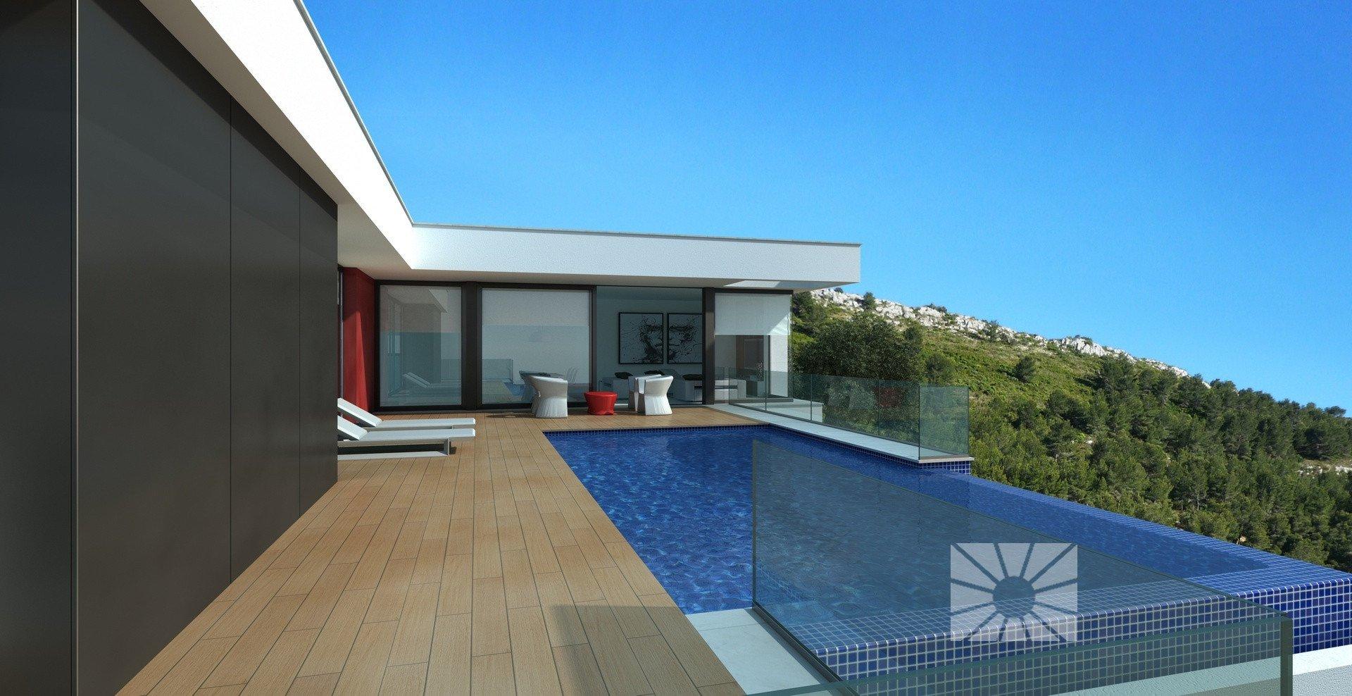 Moderne villa met zeezicht in Cumbre del Sol- Costa Blanca Noord