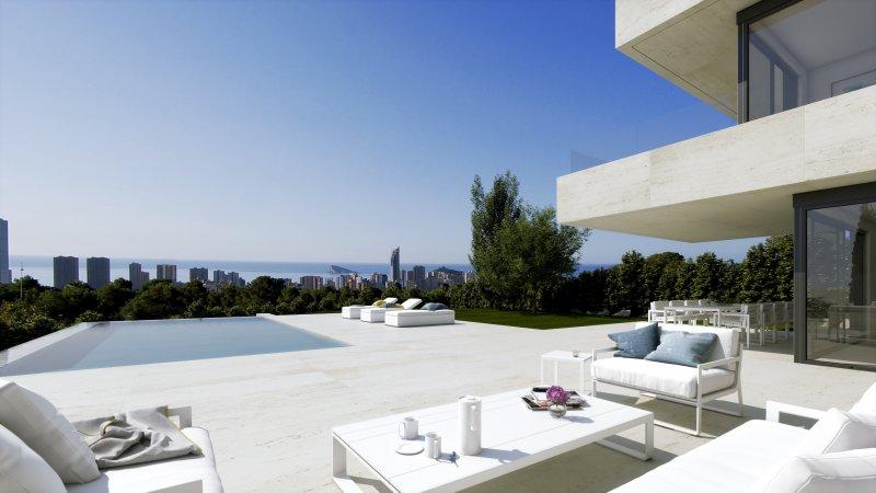 Moderne villa op de heuvels van Finestrat- Costa Blanca Noord